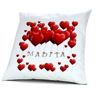 Kopfkissen mit Namen Madita - Motiv Herzballons