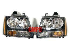 2007-2014 Chevrolet Tahoe Suburban Avalanche GM OEM NEW Headlights Left & Right