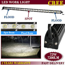27inch 72W CREE Slim LED Work Light Bar Spot Flood Combo Single Row Offroad SUV