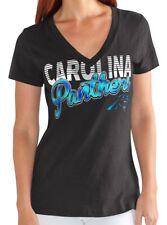 "Camiseta de Jersey Carolina Panthers Nº Para Mujer G-III NFL ""primer down"" V-Neck Cap Manga Camiseta"