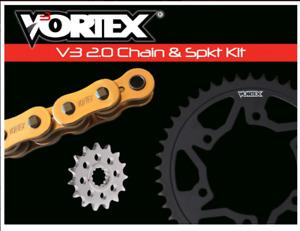 SUZUKI 2006-2010 GSXR600 VORTEX 520 CHAIN & STEEL SPROCKET KIT 15-43 TOOTH GOLD
