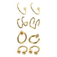 Ear Cuff Fake Helix Cartilage Piercing Jewelry Ear Hoop Single Ball Titanium