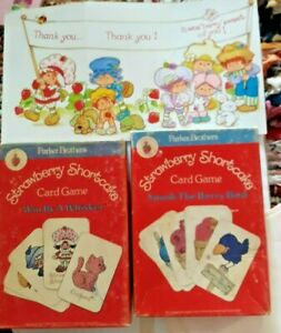 Strawberry Shortcake match games + greeting card + Old Maid