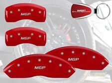 2005-08 Audi A4 Quattro Avant MGP Brake DIsc Caliper Covers  Front Rear MGP Red