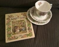Royal Doulton Brambly Hedge 1983 tea cup, saucer, plate, book!