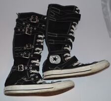 Knee High Black Converse All Star Chuck Buckled Laces Boots, UK size 5.