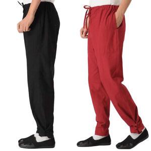 Kung Fu Tai Chi Pants Linen Martial Arts Trousers Bruce Lee Wing Chun Pants Hot