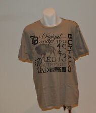 Buffalo David Bitton Mens Printed T Shirt - BROWN - SIZES - L & XL - NEW