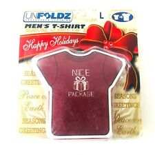 Unfoldz Expandable Clothing Men's Large Nice Package Red Short Sleeve T-Shirt