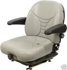 GRAY SUSPENSION SEAT FITS HUSTLER,EXMARK,TORO,BOBCAT,DIXIE CHOPPER,ZERO TURN #OH