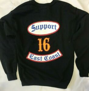 SUPPORT 16 PAGAN'S MC MOTORCYCLE CLUB ROCKER CREW NECK SWEATSHIRT size  3XL
