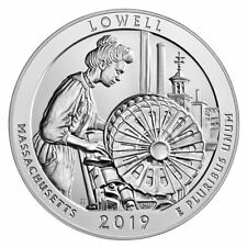 2019 Lowell 5 oz Silver ATB America the Beautiful Coin GEM BU SKU57024