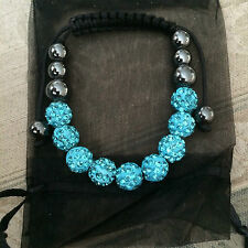 Turquoise Disco Ball Bracelet   NEW