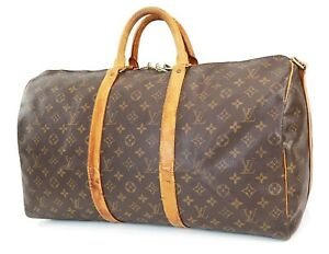 Auth LOUIS VUITTON Keepall Bandouliere 50 Monogram Canvas Duffel Bag #39557