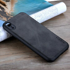 Case for iphone xr xs max x Luxury Vintage leather case Skin soft silicone cover