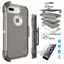 For Apple iPhone 7 Plus Case Clear Hard Hybrid Shockproof Clip TPU Bumper Cover