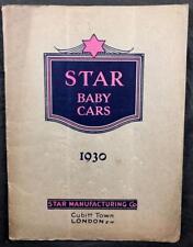 C1930'S STAR BABY CARS SALES CATALOGUE PRAMS & ACCESSORIES ILLS ORIGINAL WRAPS