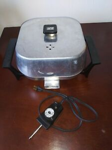 Vintage Sunbeam Electric Skillet Frying Pan High Dome 1250W 425A Tested Aluminum