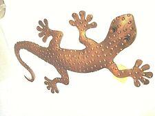 """Gecko Metall Skulptur ~ Gecko Wand hängend ~ 20"""" Long ~ gestempelt Metal Work ~ NEU"""