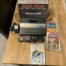 BOXED ATARI 7800 BUNDLE ! PAL !  With Games