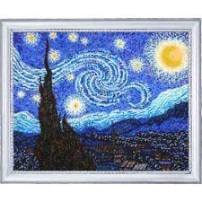 Beaded Embroidery Kit Starry night Van Gogh Beaded needlepoint Kit avec perle