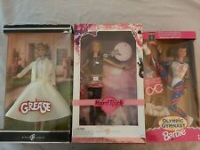 Lot of 3 Barbie NRFB Grease Hard Rock Olympic Gymnast Collector's Pink Label SE