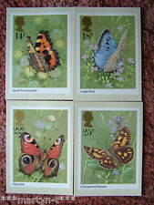 PHQ Stamp card set No 51 Butterflies 1981. 4 card set.  Mint Condition.