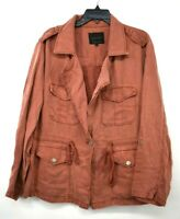 Sanctuary Womens Red Solid Long Sleeves Desert Safari Utility Jacket 1X $139