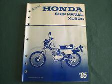 Honda 85 1985 XL80S XL80 80 80cc Service Shop Repair Manual
