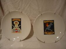 New listing Lot of 2 - Vintage Pottery Barn Cocktail Plates Vermoth Martini Isolabella j7