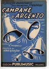 SC3 SPARTITO CAMPANE D'ARGENTO Mombelli/Ravasini - Canto/Mandolino/Fisa 1953
