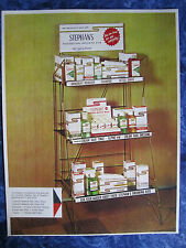 RARE Vintage 1950 Stephan's Tonic Barbershop Store Display Photo Color Sign Ads