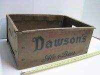 Vintage Dawson's Extra Dry Ale & Beer 24 Bottle Crate New Bedford MA Brewery Old