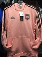 Adidas LAFC Travel Hoodie Pink Black  21/22 Size S Men's Only