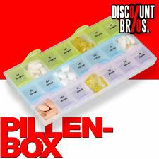 NEU █ Tablettenbox PILLENBOX Wochenbox 7 Tage 3 Fächer – Medikamentenorganizer