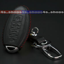 4 Button PU Leather Chain Bag Remote Smart Key Cover Fob For NISSAN SENTRA VERSA