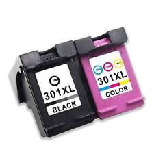 Set of 2 para HP 301 XL DeskJet 1000 1010 1050a 2050a 2540 3050a 1010 1510 1512