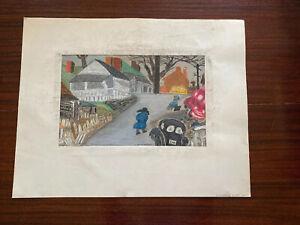 Vtg 1950s Signed Pastel Artwork Lexington KY Colored District Black Americana