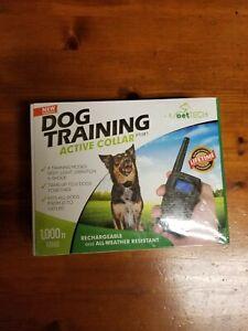 PetTech PTOX1 Dog Training Active Collar   Waterproof 1000ft Range   Black