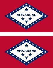 2 x Autocollant sticker voiture vinyl drapeau USA americain arkansas