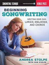 BEGINNING SONGWRITING (BERKLEE PRESS) - REFERENCE BOOK/ONLINE AUDIO 138503