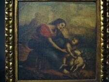 Quadro  MADONNA BAMBINO E AGNELLO DI C. DA SESTO olio su tavola - oil painting