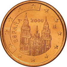 [#461239] Espagne, 5 Euro Cent, 2000, SPL, Copper Plated Steel, KM:1042