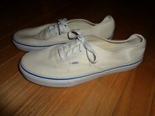 Vans Off The Wall Men's White Canvas Skateboard Low Top Shoe - Size 11