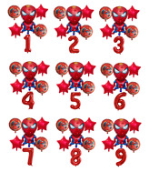 Spiderman Balloon Kit Spider man 30'' Age Number Happy Birthday 6 Party Balloons