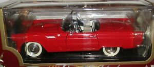 Road Legends 1955 Ford Thunderbird Red Convertible Diecast Model Replica Car