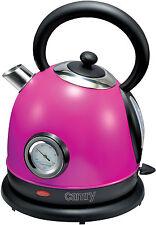Retro Kocher,1,8 Liter,2200 Watt, Violett, Edelstahl Design Wasserkocher, NEU