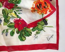 Vintage KENZO ITALY Huge size NEW AUTHENTIC FLORAL  WOMEN SCARF COTTON