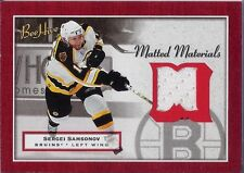 SERGEI SAMSONOV 2005-06 UD Bee Hive Game Used JERSEY Matted Material BRUINS