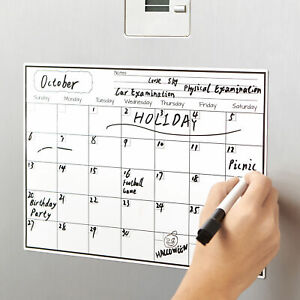 Fridge Magnet Calendar Dry Erase Whiteboard Weekly Monthly Planner To Do List